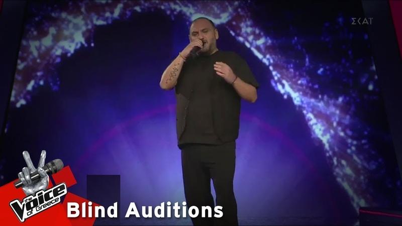 Νίκος Βανέσης Θα εκραγώ 12o Blind Audition The Voice of Greece