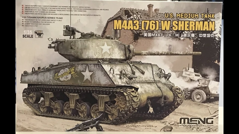 The M4A3 76 W Sherman 1 35 Meng unboxing