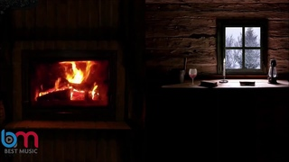 The sound of thunder and lightning with the sound of a fireplace for relaxation, meditation