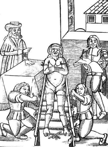 Полледро Неаполитанские палачи любовно называли эту пытку полледро жеребенок (polledro) и гордились тем, что она впервые была применена в их родном, городе. Хотя история и не сохранила имени ее