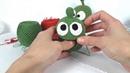 Ам Ням игрушка Ам ням крючком Om Nom crochet Мастер класс Урок 2