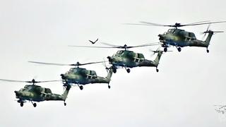 Ночные охотники вертолеты Ми-28Н. Беркуты в Кубинке.
