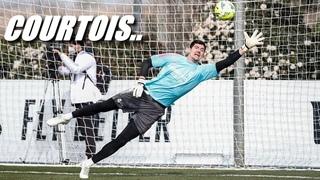 Treino de Courtois no Real Madrid ll Relexo e Habilidade 2021 HD #3