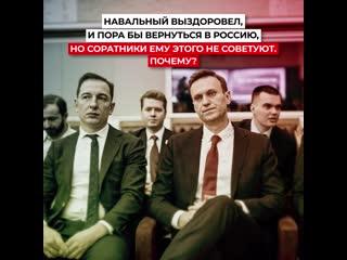 Соратники не советуют Навальному возвращаться в Россию