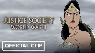 Justice Society: World War 2 - Official Clip (2021) Matt Bomer, Stana Katic