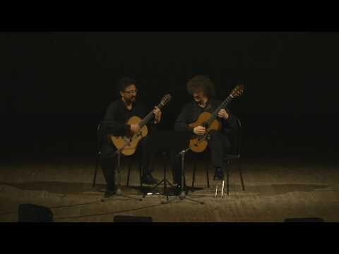 Aniello Desiderio and Zoran Dukic performing Carlo Domeniconi 'Circus Music for Two Guitars' 1 2