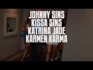 sinslife - Kissa Sins, Aj Applegate, Karmen Karma, Katrina Jade, Maddy OReilly - Johnny and Kissas Leaving Las Vegas