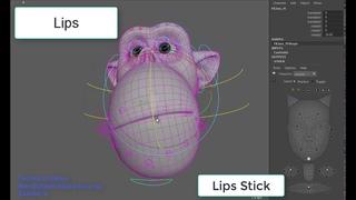 Blendshape-based face rig. Technical demo.