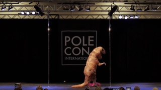 Pole Dancing TRex: The Pole Comedian at International Pole Convention