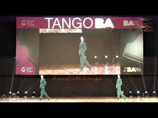 Mundial de tango 2019, puesto 3 escenario, germán filipeli, nicolás filipeli