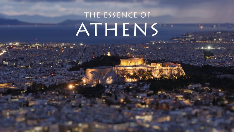 The Essence of Athens 4k Time lapse Tilt Shift