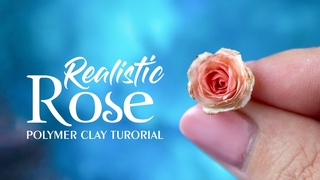 DIY Polymer Clay Rose Tutorial | Polymer clay fowers | How to make miniature rose