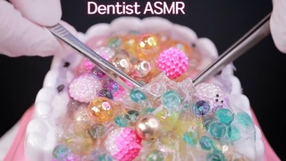ASMR 1Hours 🦷치아에서 자라나는 슬라임 스케일링 충치제거  🦷 Dentist Cleans Your Teeth Slime Scaling Eng Sub